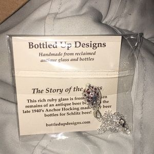 Bottles up designes necklace